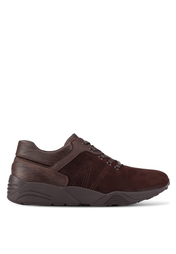 ZALORA brown Mixed Materials Trainers 943EASHCCC0518GS_1