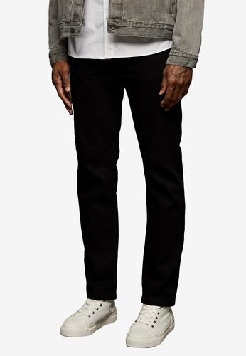 Topman black Black Straight Jeans B8257AAD10B294GS_1