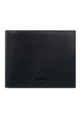 CROSSING black Crossing Black Series Bi-fold Leather Wallet With Coin Pouch RFID DE40BAC839CF84GS_1