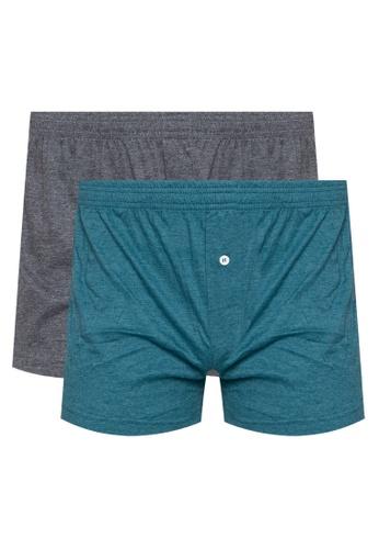 Walker Underwear multi Boxer Shorts With Button Placket (Bundle Of 2) C2FD0USC3BEC8FGS_1