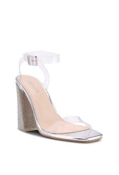 868f26c652a 25% OFF Public Desire Ayda Glitter Block Heels S  70.90 NOW S  52.90 Sizes  6 8