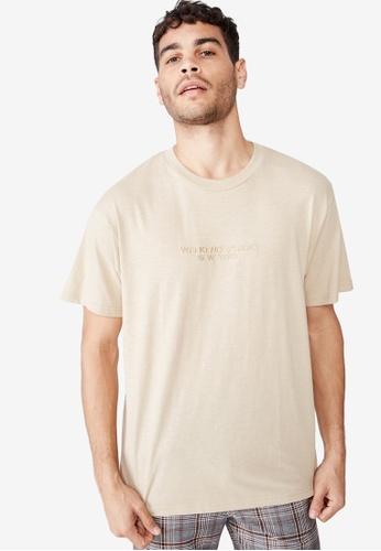 Cotton On 多色 文字刺繡T恤 2B0AAAA7BFCD1AGS_1