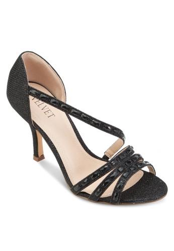 Occasion 鉚釘多帶高跟鞋, 女鞋, 細esprit tw帶高跟鞋