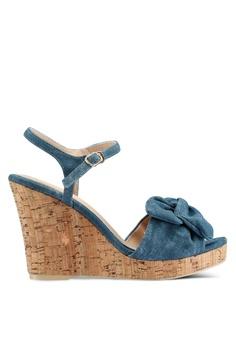268643c685e7 Bata blue Strappy Wedges 68056SHAA2FF1DGS 1