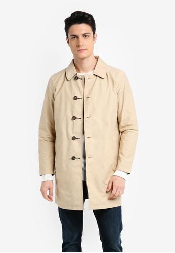 ESPRIT 米褐色 Woven Regular Coat 6B36BAAB849D59GS_1