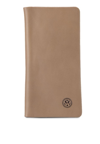 Volkswagen brown Volkswagen Bi-Fold Full Leather Long Wallet VO089AC20MVZMY_1