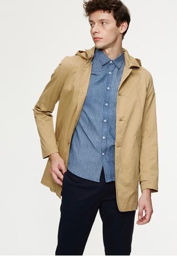 Life8 beige Leightwieght Elastic Hooded Coat-03961-Khaki LI283AA0GP0NSG_1