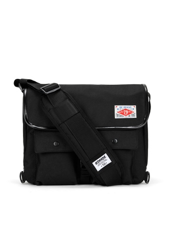 Peeps black Retro Messenger Bag 861F8ACEE53858GS_1