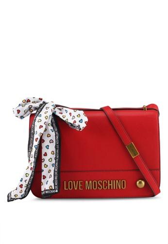 Love Moschino red Nappa Shoulder Bag LO478AC0SXYFMY_1