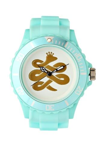 Chronomart white and blue Baem Korea Quartz Silicone Strap K-Pop Fashion Wrist Watch CH783AC84WXZPH_1