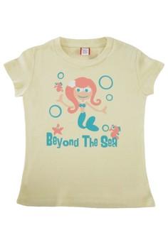 Bug and Kelly Light Yellow Beyond the Sea Girls Shirt