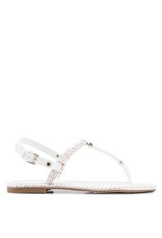 a0e283d3f8ad ALDO white Miroeniel T-Strap Sandals 890D6SHB64A076GS 1