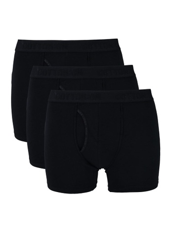Cotton On black 3-Pack Men's Organic Cotton Trunks 3A299USE9129DBGS_1