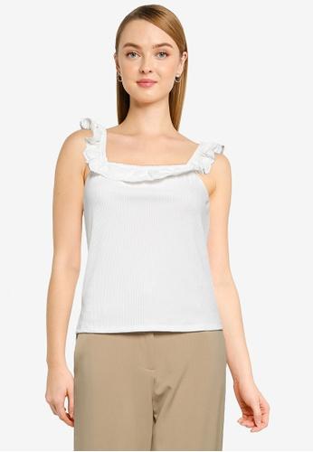 JACQUELINE DE YONG white Ebba Sleeveless Top 930C4AAEED9DE5GS_1