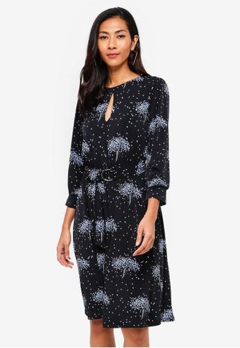 c71e2a849685 Buy WAREHOUSE Star Tree Print Dress Online on ZALORA Singapore