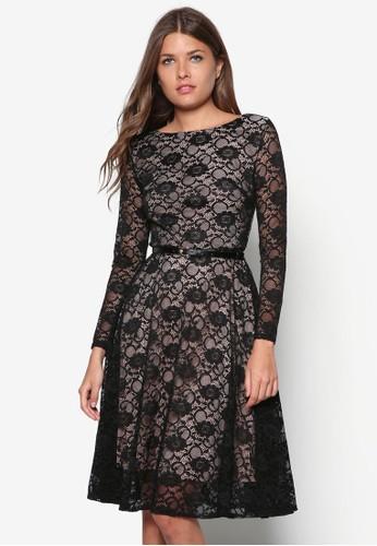 esprit台灣蕾絲長袖洋裝, 服飾, 洋裝