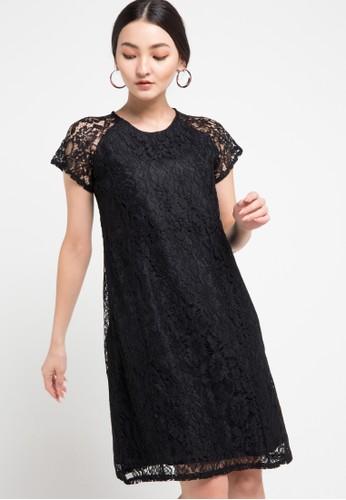 Contempo black Leviana Dress 5AA20AAB75BA04GS_1