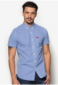 London Button Down Shorts Sleeves Shirt