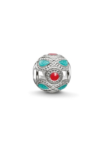 """THOMAS SABO silver Bead """"turquoise and red ethnic"""" DA55CAC27E5F5AGS_1"""