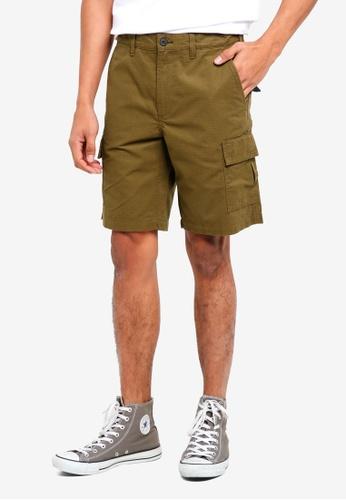Jack Wills green Fowey Cargo Shorts 37057AA85F6BFFGS_1