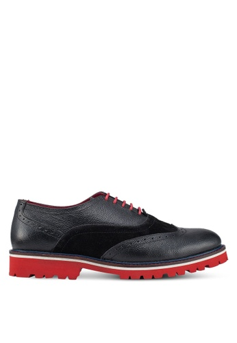 Acuto black Leather Brogue Shoes CE0A3SHC7BF7A1GS_1