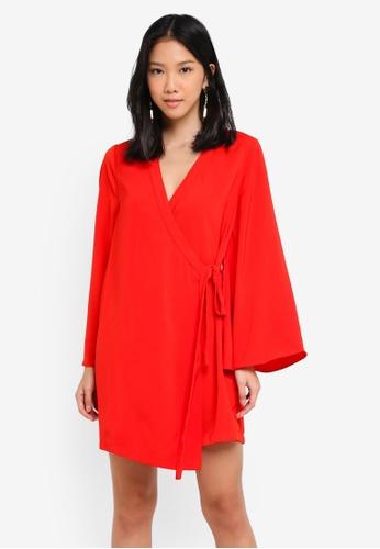 ZALORA red Loose Kimono Dress 9F7B7AAAA83629GS_1