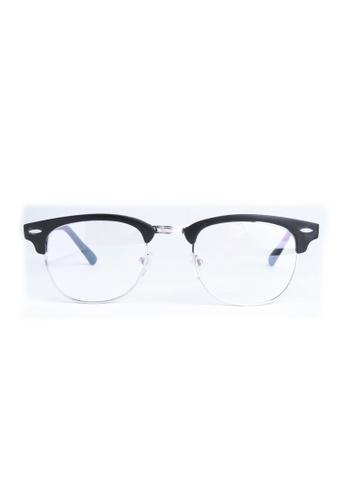 Kyfer's Eyewear & Essentials black Vintage Half Rim Clubmaster II (Small, Matt) KY376AC78JZPSG_1