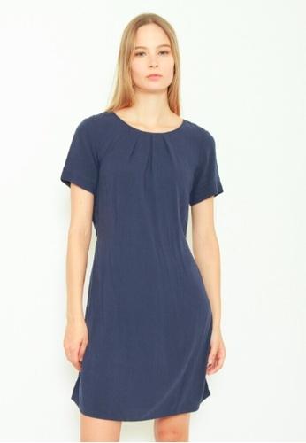 DENIZEN navy DENIZEN Women's Crew Neck Short Sleeve Dress - True Navy Blue DZ-59038-0774 F21B9AAE8BCBCCGS_1
