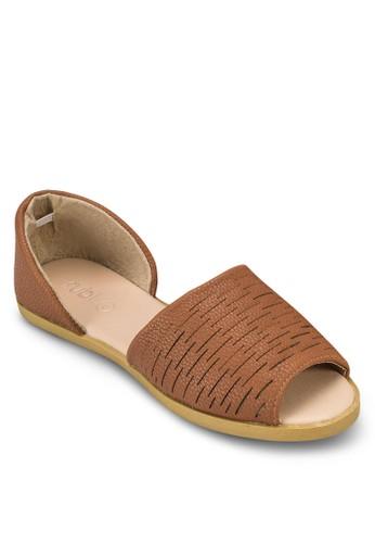 Cube 條紋露esprit 評價趾平底鞋, 女鞋, 鞋