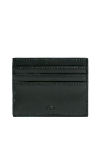 MANGO Man green Faux Leather Cardholder 79BA4ACAAF8A2EGS_1