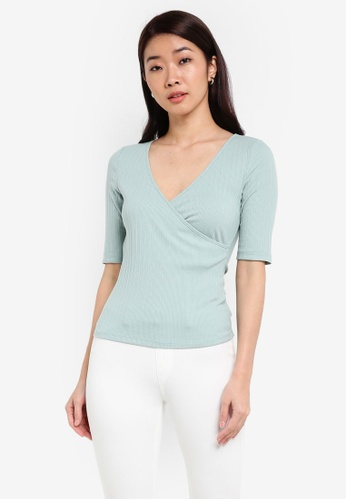 ZALORA green Wrapped Top 2CDD8AAA0CF10EGS_1