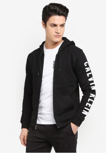 Calvin Klein black Hooded Jacket - Calvin Klein Performance 73419AA91ADB7DGS_1