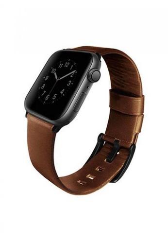 Uniq brown Uniq Mondain Apple watch 4 Genuine Leather strap 44mm - Sepia Brown B4C41ESA75A56FGS_1