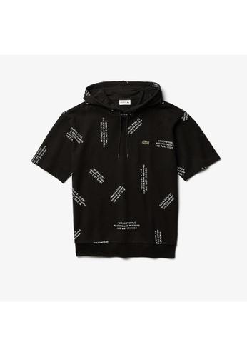 Lacoste black Lacoste Men's Print Cotton Hooded Sweatshirt 69C14AAC51221FGS_1