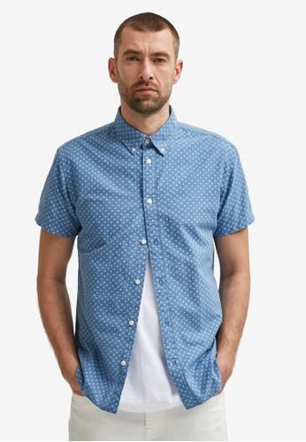 Selected Homme blue Organic Poplin Shirt F83B0AA461E9B8GS_1