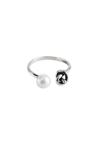 A-Excellence silver Premium S925 Sliver Knotted Pearl Ring 1EB3FAC20982E7GS_1