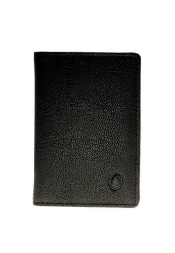 Oxhide black Bifold Leather Card Holder -Bifold Card Sleeve - Oxhide 4166  Black 464CCACE3BFB51GS_1
