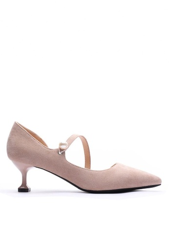 Twenty Eight Shoes beige Elegant Pearl Pointy Pumps 6203-6 2C25ASH2991DE5GS_1