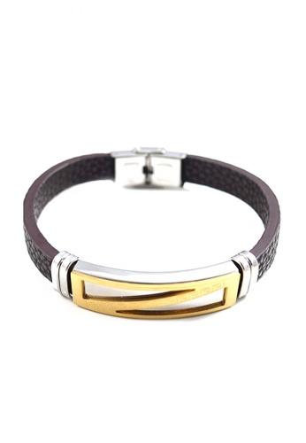 Jewelplace silver Premium Stainless Steel  Leather Bracelet   JE882AC0J5Z1PH_1