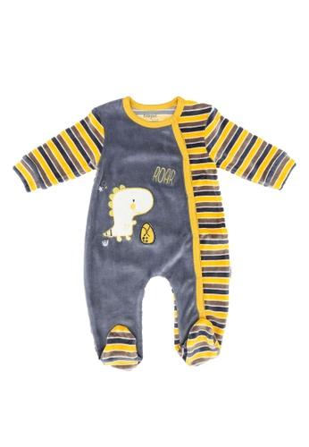 Babybol blue Baby Long Sleeve Romper 8AB2AKAA1F4CFCGS_1