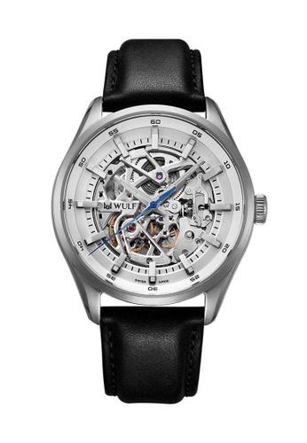 Wulf black Wulf Exo Silver and Black Skeleton Watch 6F866AC7297BC1GS_1