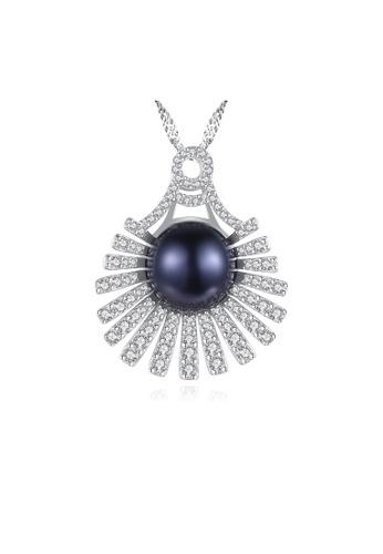 SUNRAIS silver Premium Colored Stone Silver Scalloped Necklace CFEE6AC82A1A9FGS_1