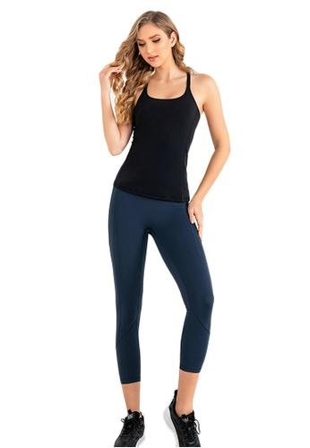 B-Code blue ZUU3043-Lady Quick Drying Running Fitness Yoga Leggings-Blue C376FAA972F7C1GS_1