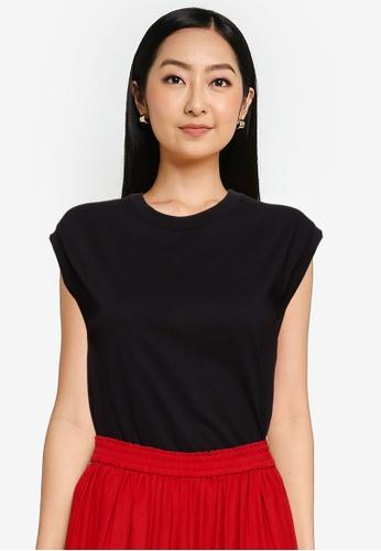 GLOBAL WORK black Knit T-Shirt 6D802AA3B0770DGS_1