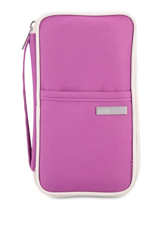 Bagstationz purple Hand Grab Travel Zip-Up Passport Wallet BA607AC86LQRMY_1