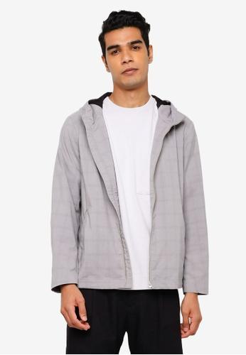 RAGEBLUE grey Print Hoodie D8854AA10838E9GS_1