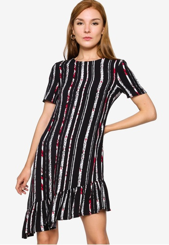 ZALORA WORK 多色 Asymmetrical Hem Dress B41DBAA78250E9GS_1