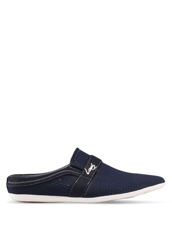 Louis Cuppers navy Backless Loafers 97532SH71EED19GS_1