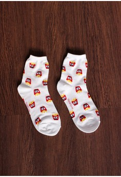 Fast Food Burger Long Socks