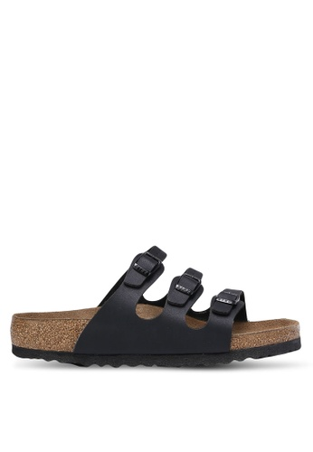 Birkenstock 黑色 Florida Birko-Flor Sandals BI090SH0RCOCMY_1